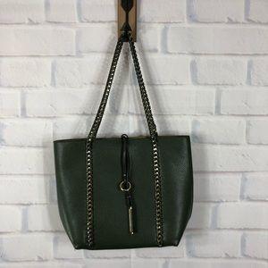 Handbags - Army Green Vegan Leather Tote Shoulder Bag